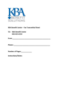 KBA Benefits Center Fax Cover